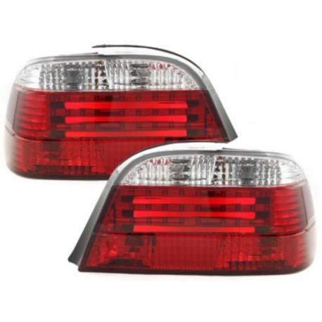 LAMPY TYLNE LED BMW 7 E38 95-02 CZERWONE / PRZEŹROCZYSTE