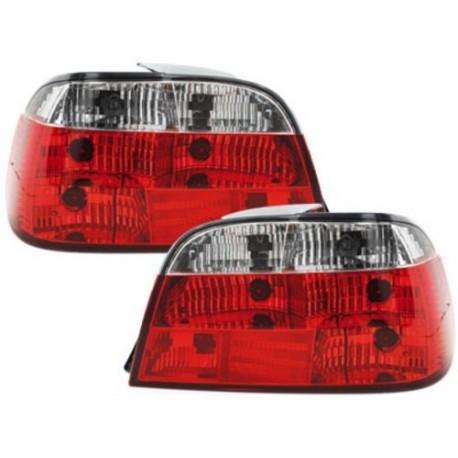 LAMPY TYLNE BMW 7 E38 95-02 CZERWONE / PRZEŹROCZYSTE