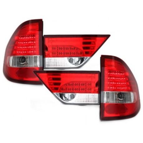 LAMPY TYLNE LED BMW E83 X3 04-06 CZERWONE / PRZEŹROCZYSTE