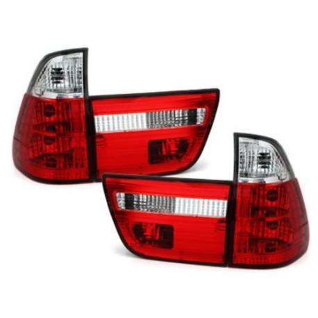 LAMPY TYLNE BMW X5 00-02 CZERWONE / PRZEŹROCZYSTE