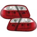 LAMPY TYLNE MERCEDES CLK W208 06.97-02  CZERWONE / PRZEŹROCZYSTE