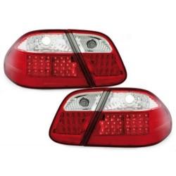 LAMPY TYLNE LED MERCEDES CLK W208 06.97-02 CZERWONE / PRZEŹROCZYSTE