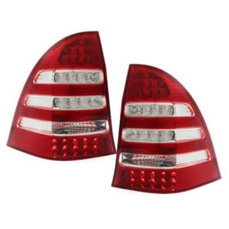 LAMPY TYLNE LED MERCEDES BENZ C W203 00-12/04 KOMBI CZERWONE / PRZEŹROCZYSTE