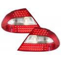 LAMPY TYLNE LED MERCEDES BENZ CLK W209 05-10 CZERWONE / PRZEŹROCZYSTE