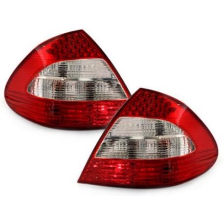 LAMPY TYLNE LED MERCEDES BENZ E W211 SEDAN CZERWONE / PRZEŹROCZYSTE