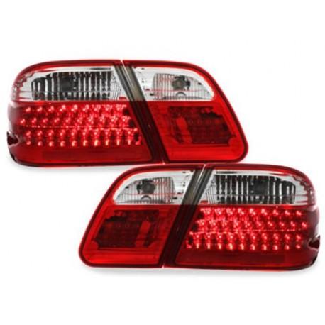 LAMPY TYLNE LED MERCEDES BENZ W210 E-KLASA 95-02 CZERWONE / PRZEŹROCZYSTE
