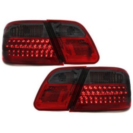 LAMPY TYLNE LED MERCEDES BENZ W210 E-KLASA 95-02 CZERWONE / DYMIONE