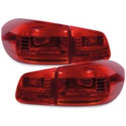 LAMPY TYLNE LED VW TIGUAN 11+  CZERWONE / PRZEŹROCZYSTE