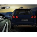 LAMPY TYPLNE CARDNA LED VW TOUAREG LIGHTBAR CZARNE/DYMIONE