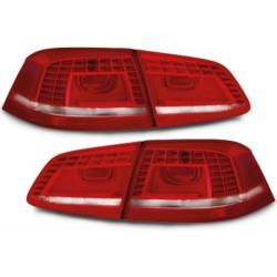 LAMPY TYLNE LED VW PASSAT 3C B7 GP SEDAN 2011+ CZERWONE / PRZEŹROCZYSTE