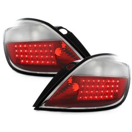 LAMPY TYLNE LED OPEL ASTRA H 5D 04+ CZERWONE / PRZEŹROCZYSTE