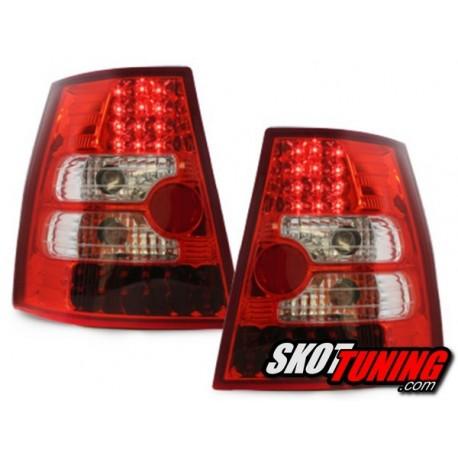 LAMPY TYLNE LED VW BORA VARIANT+GOLF IV VARIANT CZERWONE / PRZEŹROCZYSTE