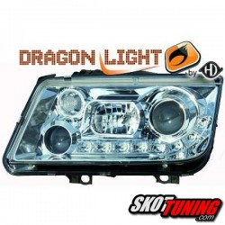 REFLEKTORY DRAGON LIGHTS VW BORA 98-05 CHROM