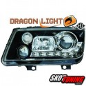 REFLEKTORY DRAGON LIGHTS VW BORA 98-05 CZARNE