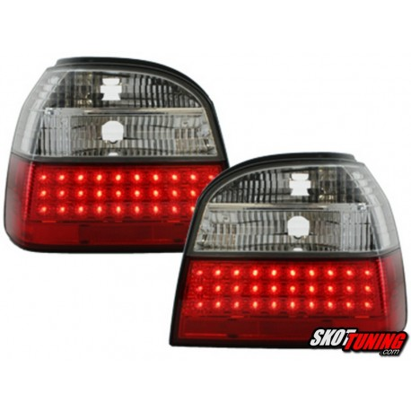 LAMPY TYLNE LED VW GOLF III 91-98 CZERWONE / PRZEŹROCZYSTE