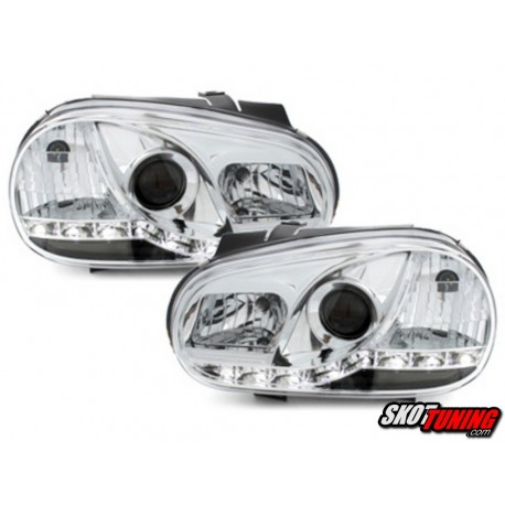 DRL REFLEKTORY VW GOLF IV 98-02 CHROM
