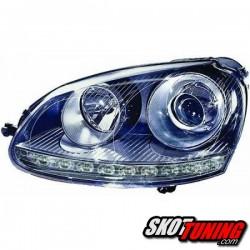 REFLEKTORY VW GOLF V 03-08 GTI LOOK + KIERUNKOWSKAZ LED CZARNE