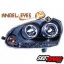 REFLEKTORY VW GOLF V 03-09 CZARNE Z RINGAMI