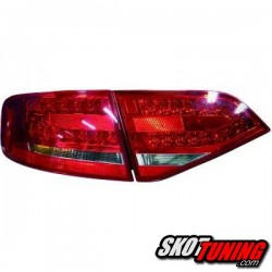 LAMPY TYLNE LED AUDI A4 B8 SEDAN 07-11 CZERWONE / PRZEŹROCZYSTE