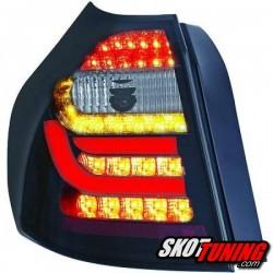 LAMPY TYLNE LED BMW 1 E87 04-03.07 CZARNE / DYMIONE
