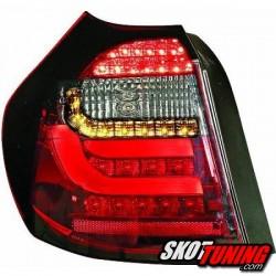 LAMPY TYLNE LED BMW SERII 1 E87 08-11 CZERWONE / DYMIONE