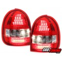LAMPY TYLNE LED OPEL CORSA B 03.93-03.01 CZERWONE/PRZEŹROCZYSTE