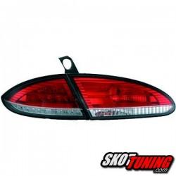 LAMPY TYLNE LED SEAT LEON 1P 05-09 CZERWONE / PRZEŹROCZYSTE