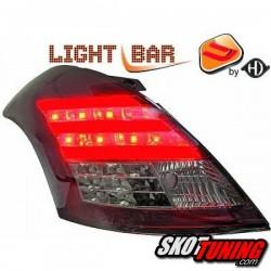 LAMPY TYLNE LED SUZUKI SWIFT 10+ CZERWONE / DYMIONE