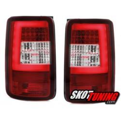LAMPY TYLNE LED VW CADDY 03-15 CZERWONE / PRZEŹROCZYSTE