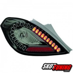 LAMPY TYLNE LED OPEL CORSA D 06-14 3D CZARNE
