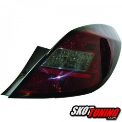 LAMPY TYLNE LED OPEL CORSA D 06-14 5D CZERWONE / DYMIONE