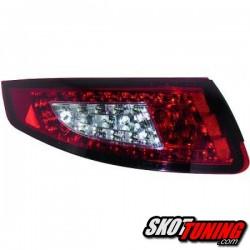 LAMPY TYLNE LED PORSCHE 911 997 04-08 CZERWONE / PRZEŹROCZYSTE