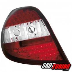 LAMPY TYLNE LED RENAULT CLIO 05-09 CZERWONE / PRZEŹROCZYSTE
