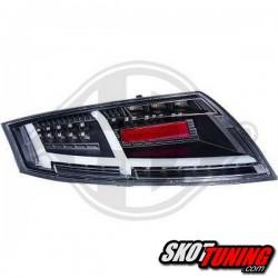 LAMPY TYLNE LED AUDI TT 06-14 CZARNE LIGHTBAR