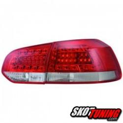 LAMPY TYLNE LED VW GOLF VI 08-12 CZERWONE / PRZEŹROCZYSTE