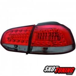 LAMPY TYLNE LED VW GOLF VI 08-12 CZERWONE / DYMIONE