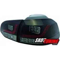 LAMPY TYLNE LED VW GOLF VI CZARNE / DYMIONE