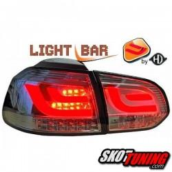 LAMPY TYLNE LED ZESTAW VW GOLF 6 CHROM / DYMIONE
