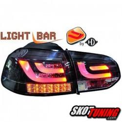 LAMPY TYLNE LED ZESTAW VW GOLF 6 CZARNE / DYMIONE