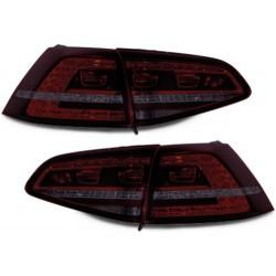 LAMPY TYLNE LED VW GOLF VII +13 GTI LOOK CZERWONE / DYMIONE