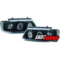 REFLEKTORY VW PASSAT 3B 96-00 CZARNE RINGI LIGHTBAR