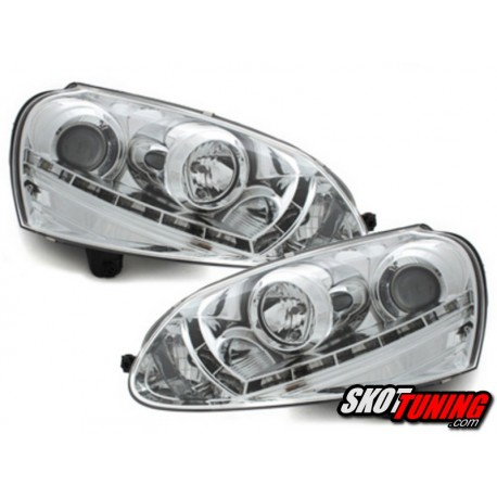 DRL REFLEKTORY VW GOLF V CHROM