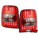 LAMPY TYLNE LED VW PASSAT 3B VARIANT 97-01 CZERWONE/PRZEŹROCZYSTE