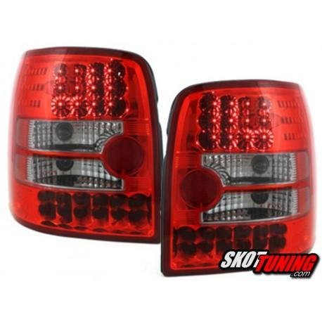 LAMPY TYLNE LED VW PASSAT 3B VARIANT 97-01 CZERWONE / PRZEŹROCZYSTE