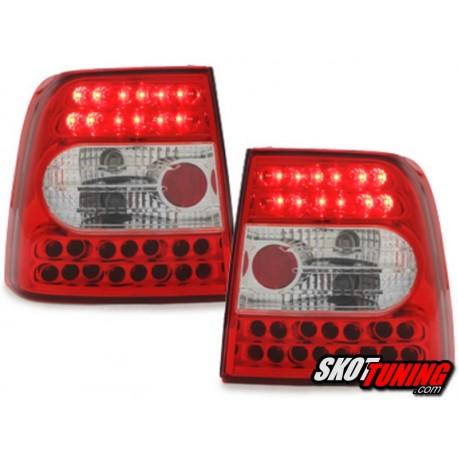 LAMPY TYLNE LED VW PASSAT 3B SEDAN 97-01 CZERWONE/PRZEŹROCZYSTE