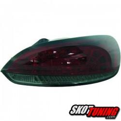 LAMPY TYLNE LED VW SCIROCCO 08-14 CZERWONE / DYMIONE + KIERUNKOWSKAZ LED