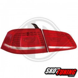 LAMPY TYLNE LED VW PASSAT 3C B7 GP SEDAN 10-14 CZERWONE / PRZEŹROCZYSTE