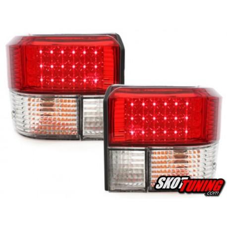 LAMPY TYLNE LED VW T4 90-03 CZERWONE/PRZEŹROCZYSTE