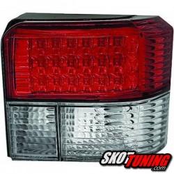 LAMPY TYLNE LED VW T4 90-03 CZERWONE / PRZEŹROCZYSTE
