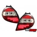 LAMPY TYLNE LED RENAULT CLIO 05-09 CZERWONE/PRZEŹROCZYSTE